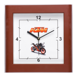 Square Wall Clock with Curved Frame Edges