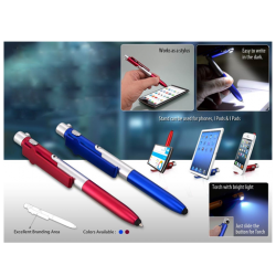 4 in 1 Folding Pen with Stylus Writing Lamp and Mobile Stand