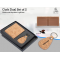 Cork Dual Set Wallet With Keychain In Gift Box - CGP-3105