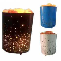 BIG METAL BASKET SALT LAMPS  - CGP-2975
