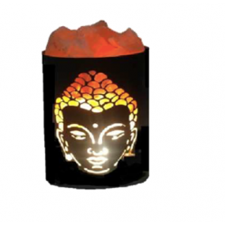 SMALL METAL BASKET SALT LAMP