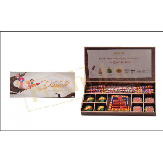Premium Diwali Cracker in wooden box - CGP-2620