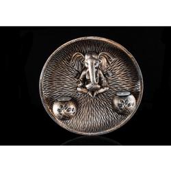 Round Ganesha wall plate - CGP-1185