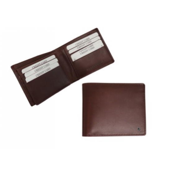 Brown leather wallet - BRM-15