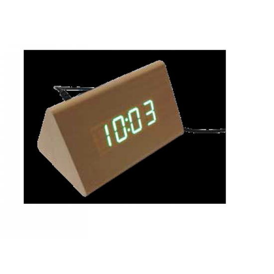 Triangle Wooden LED Clock - CGP-1967