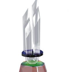 Acrylic Trophy Size: L 12.5(CGT- 359)