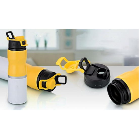 Yellow Dual Color Sipper (700ml Capacity)