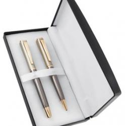 Gold & Gun Metal Finish Pen Set