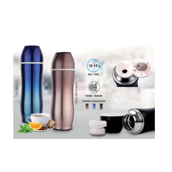 CURVY BULLET VACUUM FLASK (500 ML APPROX)