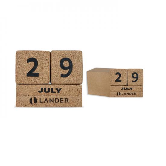Cork Table Calendar