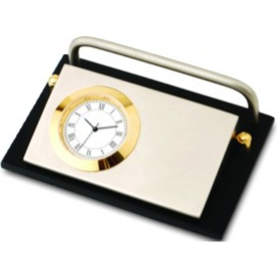 Gold plated brass clock