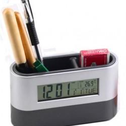 Stationery Holder and Desk Top Clock
