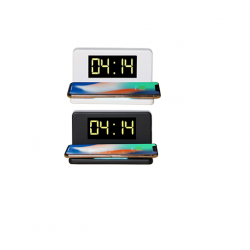 Desktop Wireless Charger with Alarm Clock & Led Lamp - CGP-2550