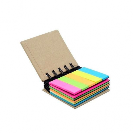 Multi-color Spiral Stick On Notes - 3 X 2 Inch & 2 X 0.6 inch