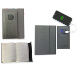 Detachable Diary with Power Bank