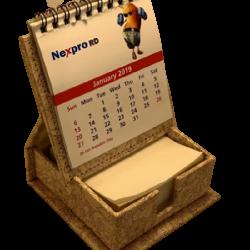 Dg print Slip box with calendar