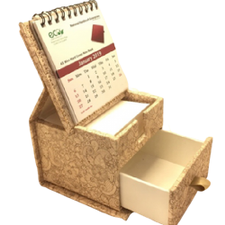 Dg print slip box with drawer and calendar