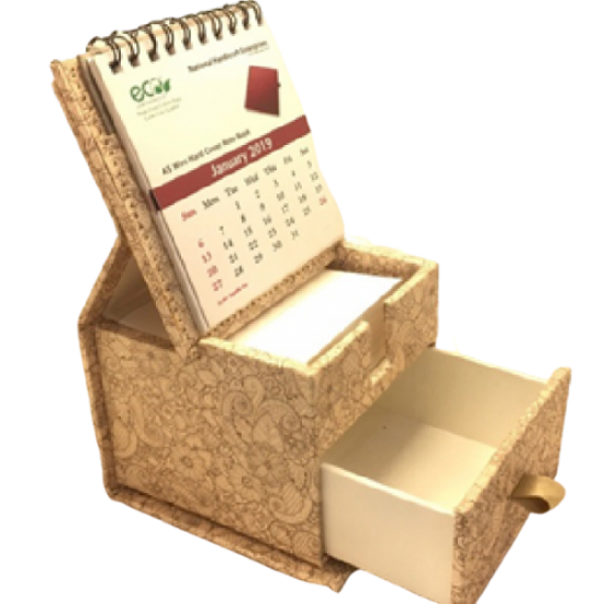 Dg print slip box with drawer and calendar