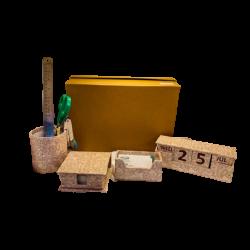Gift Set 7 Jaipuri Design (Dg Round Pen Cup,Dg Visiting Card Holder,Dg Slip Box, Dg Cubicle Calender)
