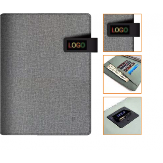 High-quality design Leatherette Organizer with Power bank