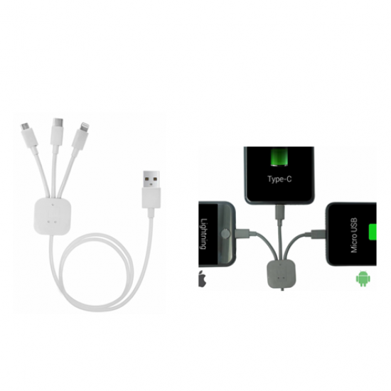 Konnect trio 3-in-1 charging cable