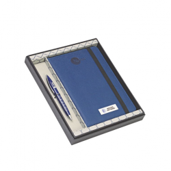 2 pcs Gift Set A5 size Blue note book and ball pen