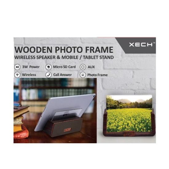 XECH Wooden Photo Frame Wireless Speaker and Mobile/Tablet Stand