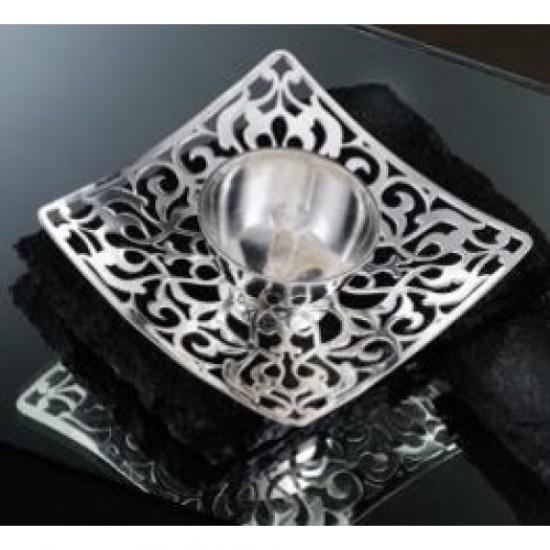 Silver Plated Diya Moksha Large