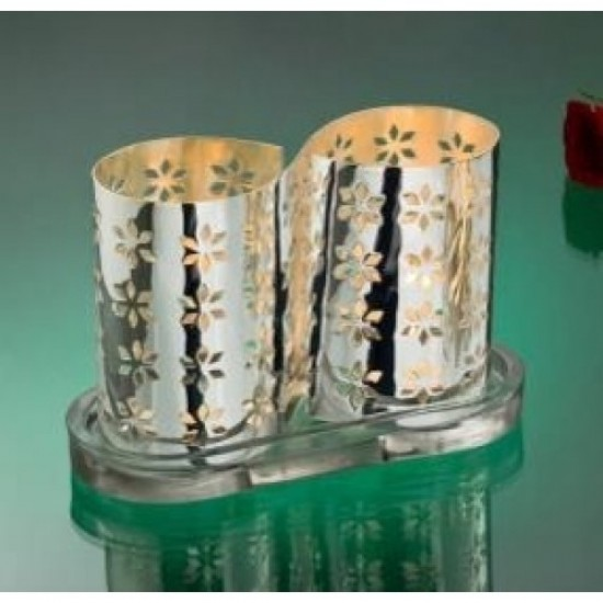 Silver Plated Tealights Holder Infinity