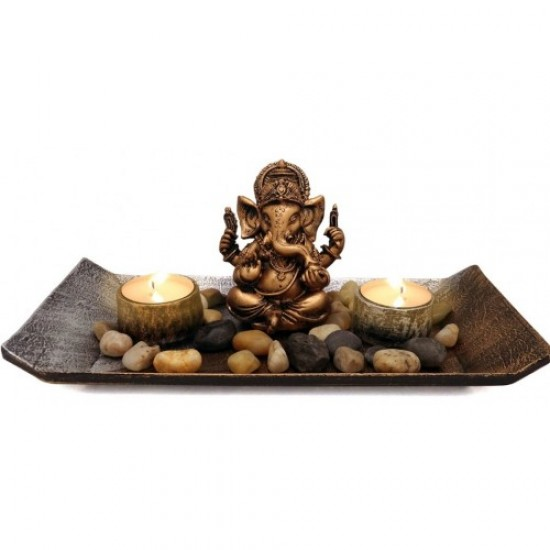 Ganesha with Two candle holder
