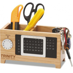 4  in 1 Wooden Desk set with Perpetual Calendar (CGP-2791)