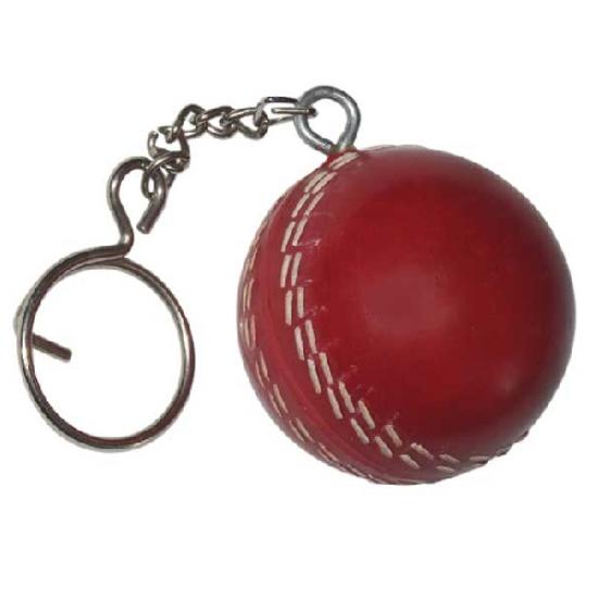 Mini Cricket Ball Keychain
