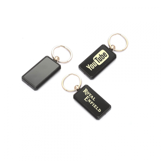 Rectangle shape Plastic keychain - CGP-2429