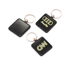 Square shape Plastic keychain - CGP-2428