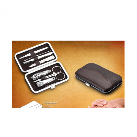 Premium Manicure Kit in Leatherette Case