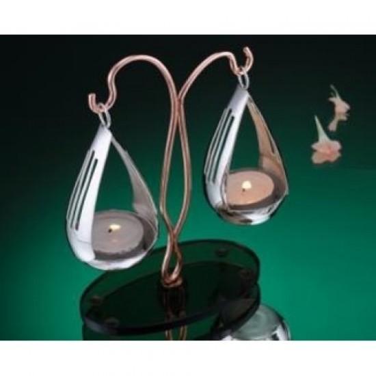 Silver Plated Tealights Holder Balance