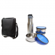 Lunch Bag with 3 Steel Containers and 1 Sipper