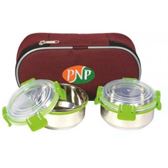 Fresh food SS Clip On Lunch Box Set of 2
