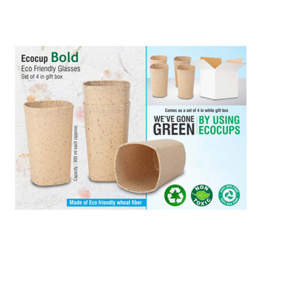 EcoCup Bold: Eco Friendly Glasses | Set Of 4 In Gift Box - CGP-3131