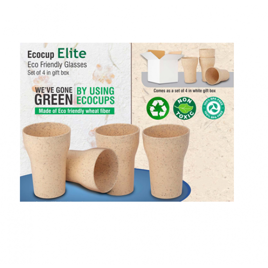 EcoCup Elite: Eco Friendly Glasses | Set Of 4 In Gift Box - CGP-3130