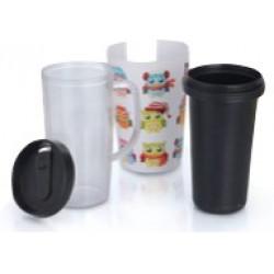 Travel Mug with Offset Insert