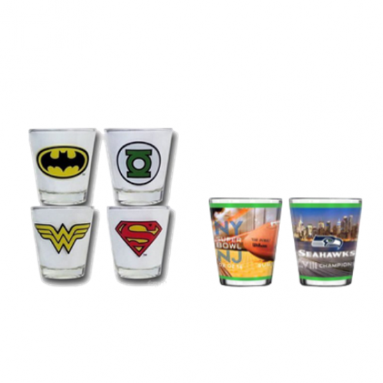 Sublimation Printed Shot Glasses