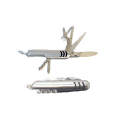 Stainless Steel Multi-functional Swiss Style Pocket Knife Tool