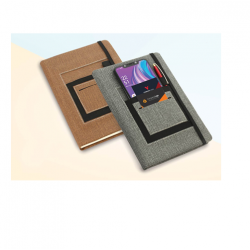 A5 NOTEBOOK WITH MOBILE POCKET - CGP-2719