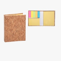 Folding Mini Cork Notepad With Double Sticky - CGP-3123