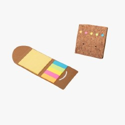 Smily Cork Notepad With Sticky Notepad And Strips - CGP-3122