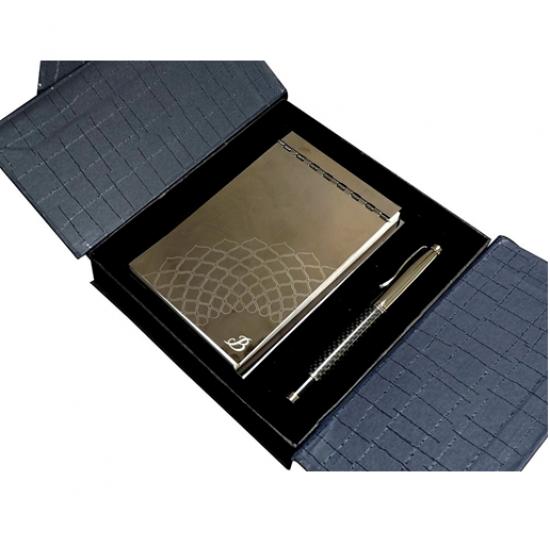 BOARDROOM Metal Wow Taj Notepad & Pen Set