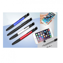 6 IN 1 PEN WITH PHONE STAND, CLEANER, RULER AND TOOLS AND STYLUS - CGP-2754