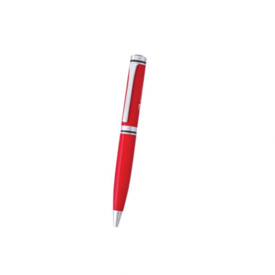 Red Ball  Pen with Silver Clip and Ring