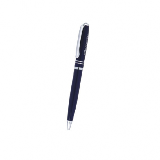 Silver & Black Pen with Dual Ring